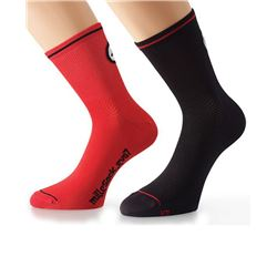 PACK 2 CALCETINES MILLE EVO 7 NEGRO/ROJO