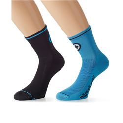 PACK 2 CALCETINES MILLE EVO 7 NEGRO/AZUL