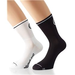 PACK 2 CALCETINES MILLE EVO 7 NEGRO/BLANCO